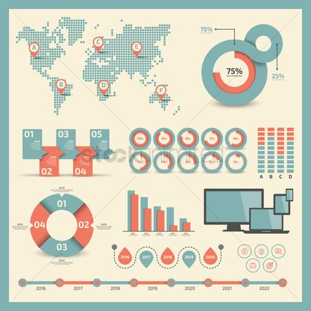 Screens : Infographic template design