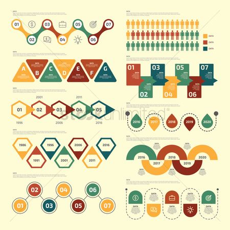Coins : Infographic template design