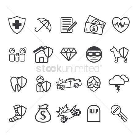 Health cares : Insurance icons