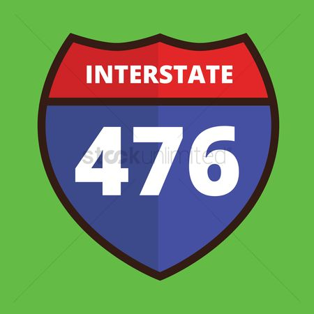 Interstates : Interstate 476 route sign