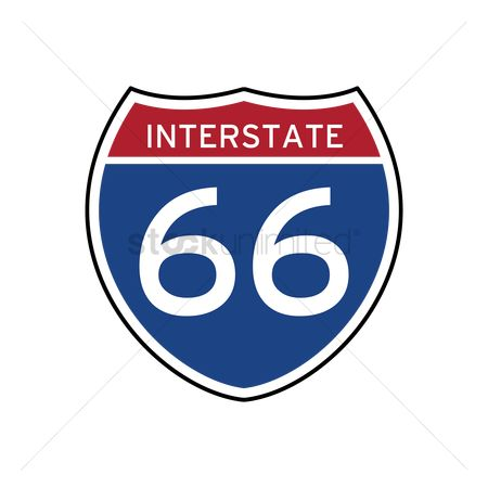 Interstates : Interstate 66 route sign