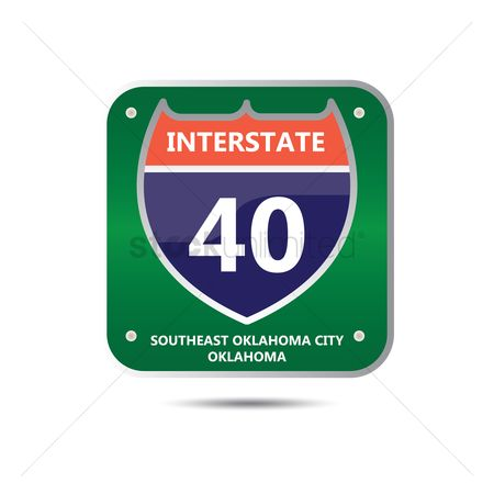 Interstates : Interstate forty route sign