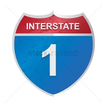 Interstates : Interstate route 1 sign