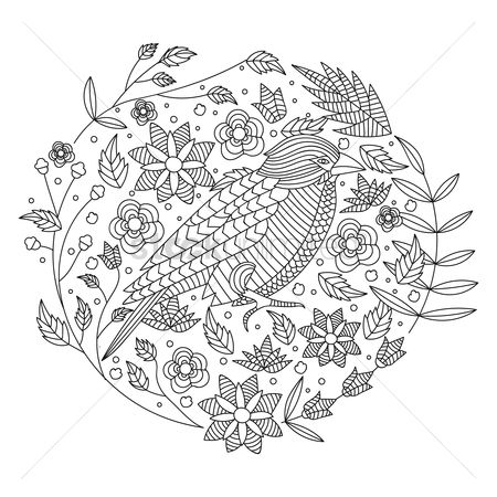 Styles : Intricate bird design