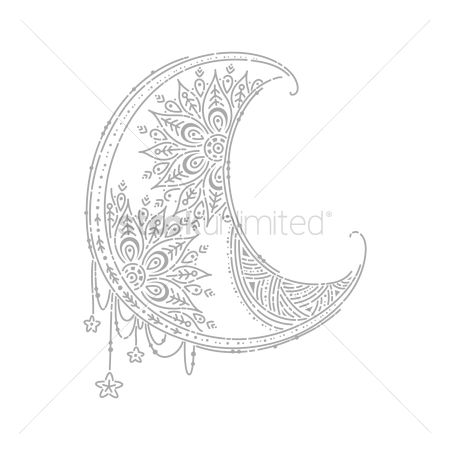 Moon : Intricate designed moon