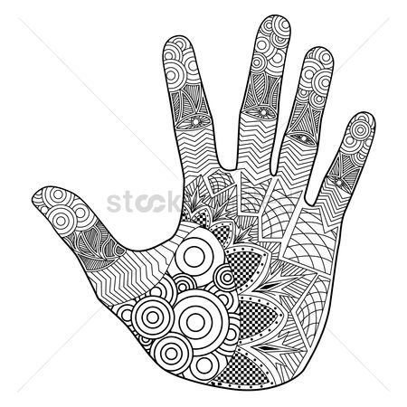 Patterns : Intricate hand design