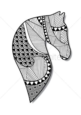 Graphic : Intricate horse design