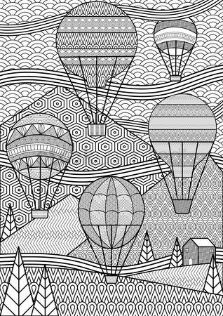 Alps : Intricate hot air balloon design
