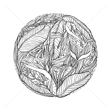 Budding : Intricate leaves design