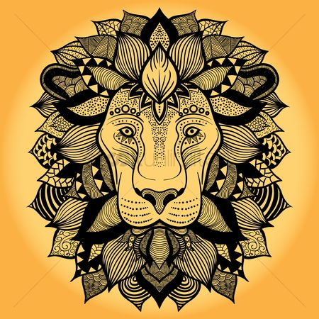 Patterns : Intricate lion design