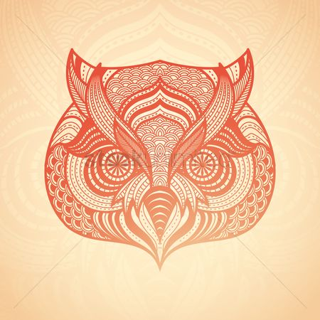Head : Intricate owl design