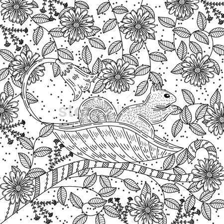 Styles : Intricate squirrel design