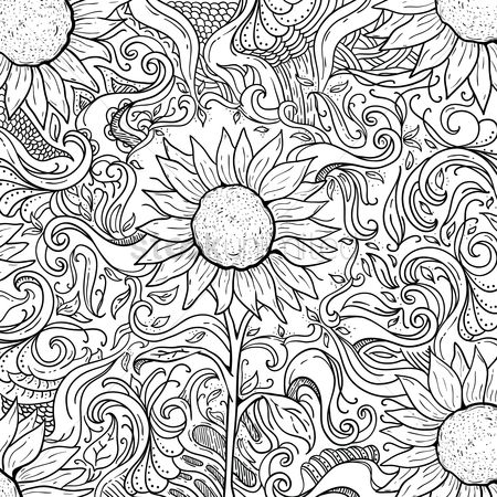 Budding : Intricate sunflower design