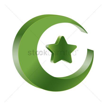 Free Islam Moon Star Stock Vectors Stockunlimited
