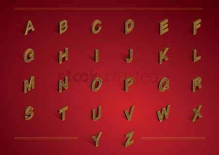 Fonts : Isometric alphabet collection