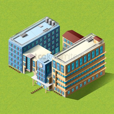Object : Isometric apartment building