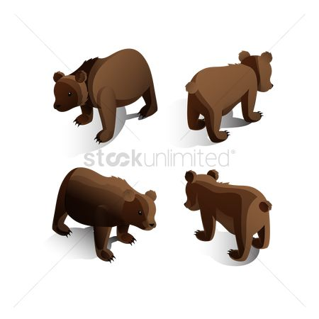 Posing : Isometric bears