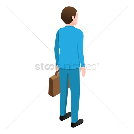 Backview : Isometric businessman