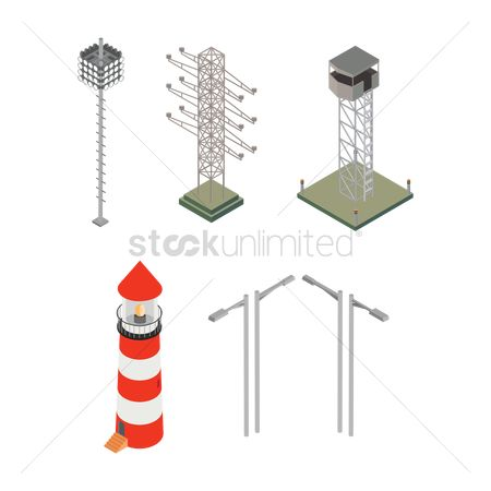 Lighthouses : Isometric electric equipment