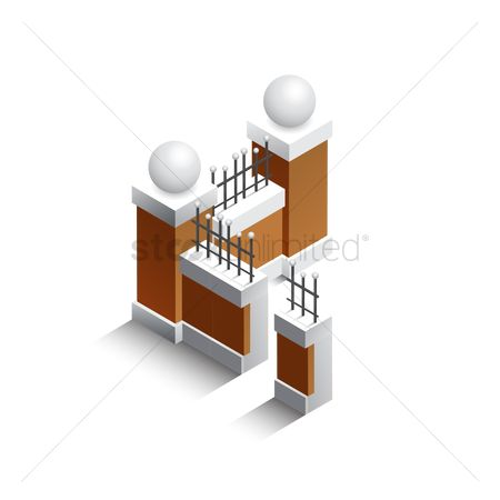 Barrier : Isometric fencing walls