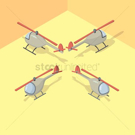 Helicopter : Isometric helicopter