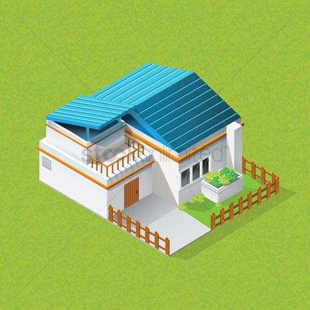 Real estate : Isometric home