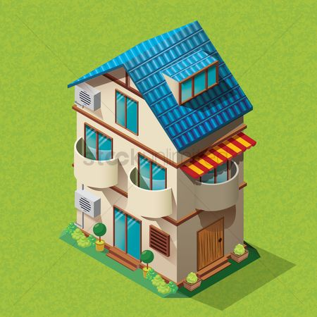 Awning : Isometric home