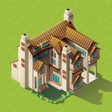 Buildings : Isometric mansion