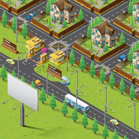 Car : Isometric of city life