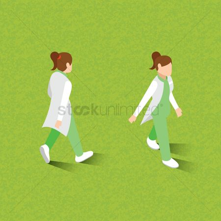 Doctor : Isometric of women walking