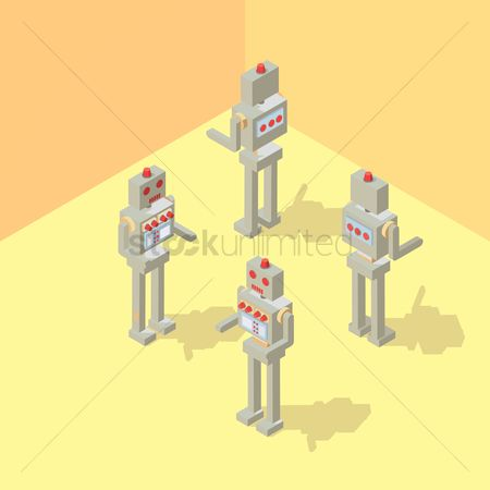 Mechanicals : Isometric robots