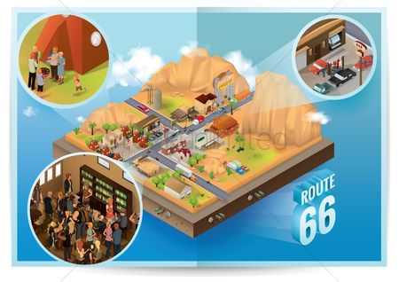 Children playing : Isometric route 66