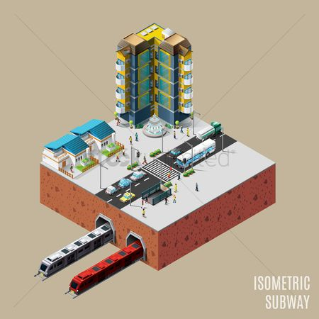 Transport : Isometric subway