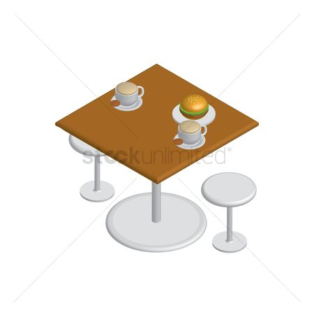 Cookies : Isometric table and chairs