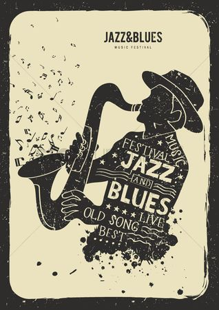 Brass : Jazz and blues music festival concept
