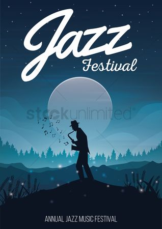 Moon : Jazz festival poster design