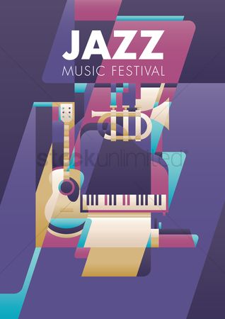 Brass : Jazz music festival poster design