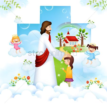 Christian : Jesus blessing a child