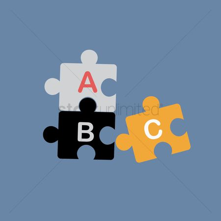 Jigsaw : Jigsaw puzzle with alphabets
