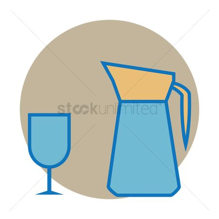 Pitcher : Jug and glass