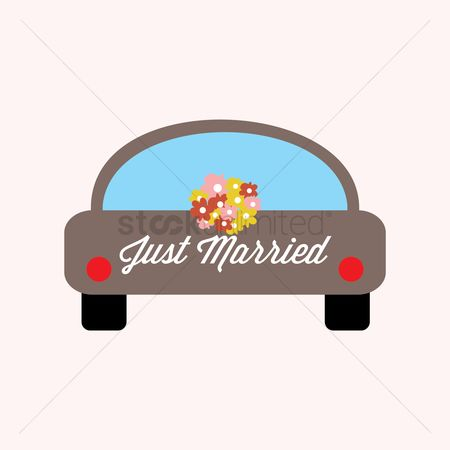 Wedding car : Just married ride