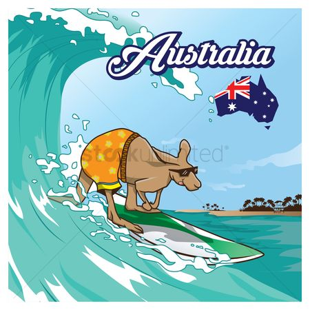 Surfboards : Kangaroo surfing