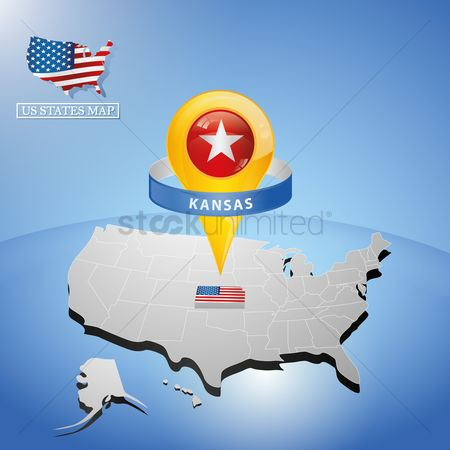 Kansas : Kansas state on map of usa