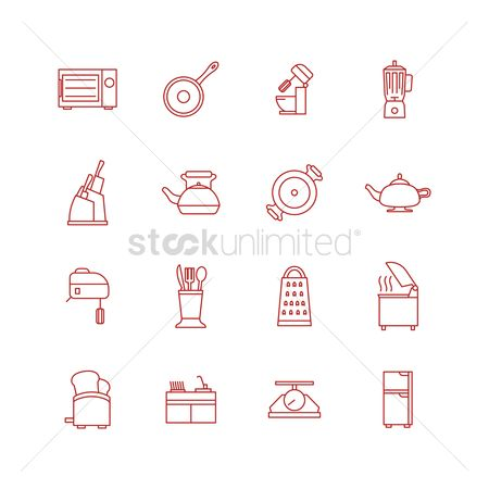 Flour : Kitchen tool icons