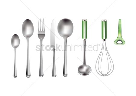 Handles : Kitchenware set