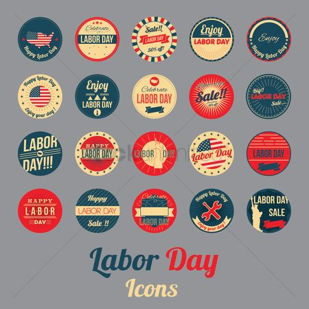 Wrenches : Labor day icons collection