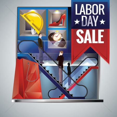 Shopping background : Labor day sale