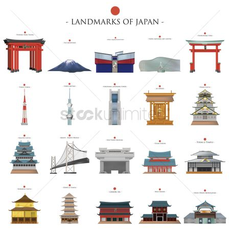 Architectures : Landmarks of japan collection