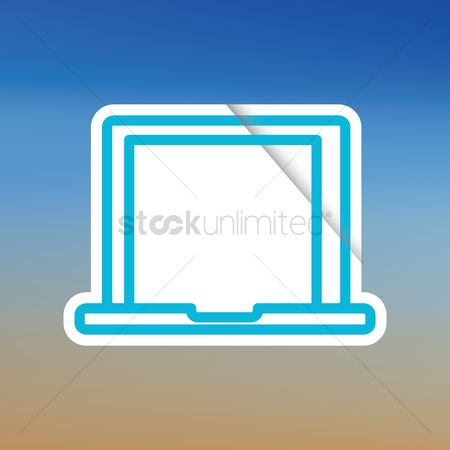 Mouse pad : Laptop icon