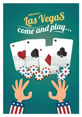 Poker chips : Las vegas design